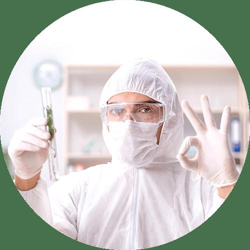 Scientist with CBD