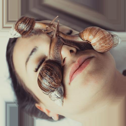 snails on face