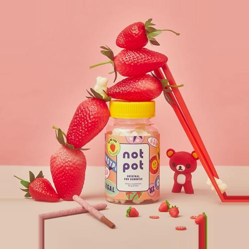 Not Pot Strawberry CBD Gummies